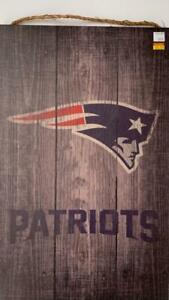 New England Patriots All Wood Sign (New) (Slight Scratch) Blow Out Canada Preview