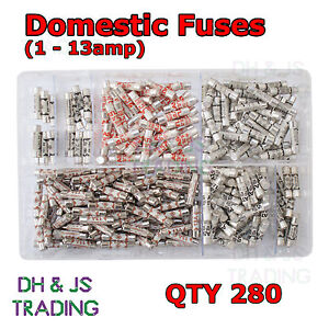 Details about orted Box of Domestic Fuses 1 2 3 5 7 10 13 a amp Plug on