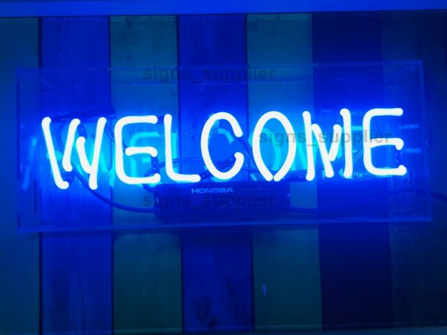 New Welcome Rectangle Neon Light Sign Pub Artwork Beer