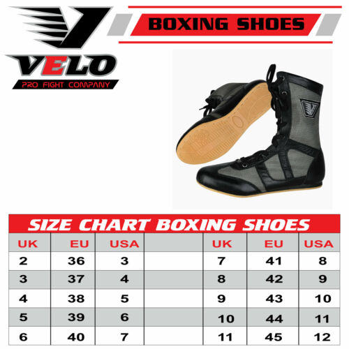 VELO Boxing Shoes Training Mens Boots Gym training Leather Light Weight Adult