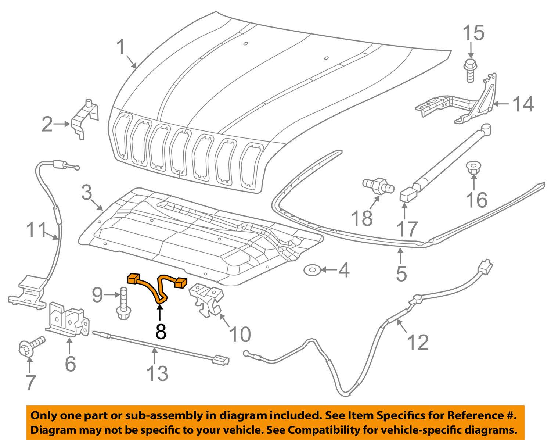 Jeep Cherokee Hood Latch Diagram Oem Striker Mopar 1500x1197