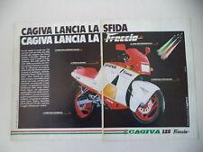 advertising Pubblicità 1987 MOTO CAGIVA FRECCIA 125 C9 C 9