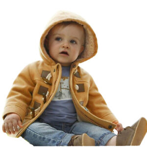 Children-Baby-Boys-Button-Zipper-Coats-Jacket-Warm-Winter-Hooded-Kids-Outwear