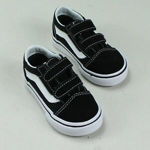 Détails sur Vans Old Skool V TODDLERSEnfants Sneaker NoirBlanc Taille 3,4,5,6,7,8,9,10 afficher le titre d'origine