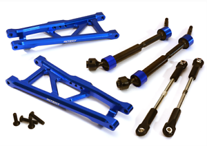 Integy Aluminum Extended Rear Arms Links /& Drive Shaft Traxxas Stampede 2WD