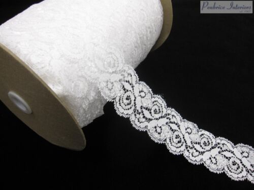 48mm White Antique Wedding Lace Ribbon Trimming Trim Bridal Sewing sew fabric