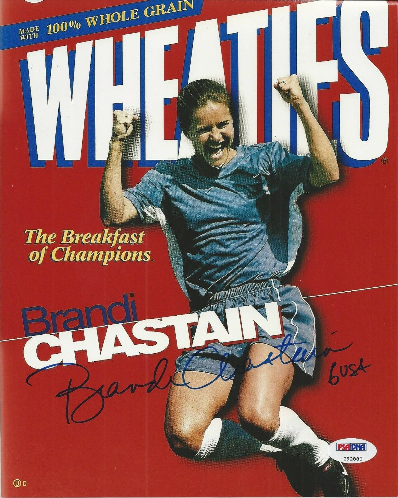 Brandi Chastain Signed Team USA 8x10 Photograph - PSA/DNA #Z92880