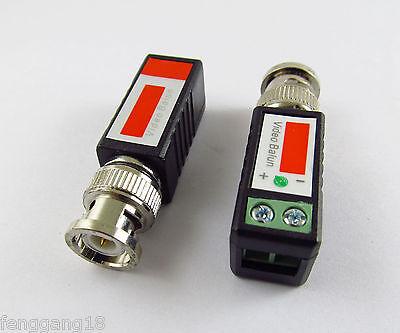 2pcs Coax CAT5 Camera CCTV Passive BNC Video Balun to UTP Transceiver Connector