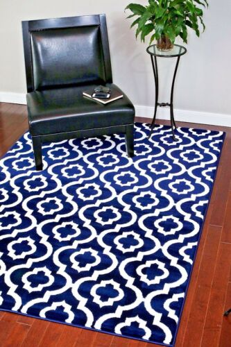 RUGS AREA RUGS CARPET FLOORING PERSIAN AREA RUG ORIENTAL FLOOR LARGE BLUE RUGS ~