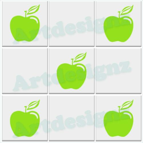 APPLE Tile Stickers Kitchen Fruit Vinyl Wall Art Decal Transfer AD05