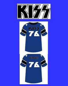 KISS Destroyer 76 Football Jersey XXXXXL 5X sz 68 shirt