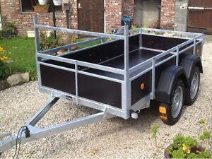 remorque double essieux ptac 750 kg dimensions exterieur 263 x 133 ebay. Black Bedroom Furniture Sets. Home Design Ideas