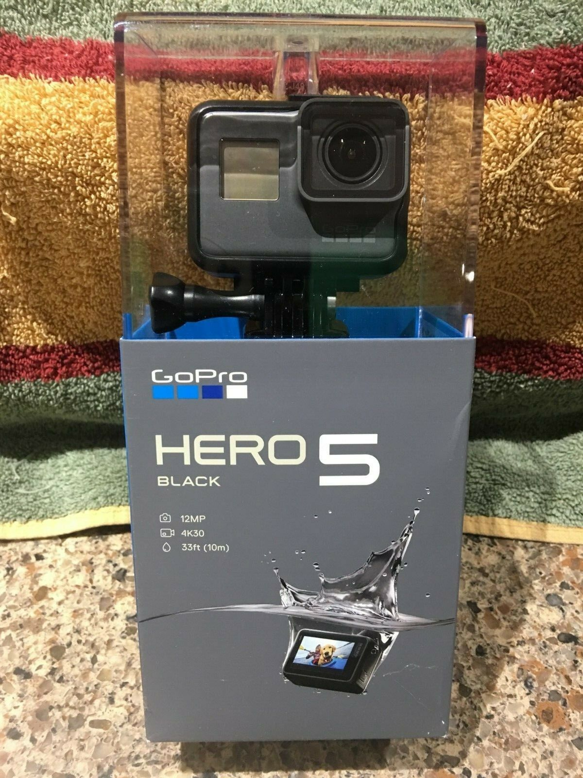 "NEW! GoPro Hero 5 Black 4K 12MP 33ft Waterproof Action Camera CHDHX-502 ""SEALED"""