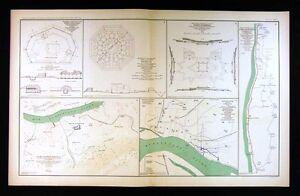 Mapa de guerra civil-Fort Donelson & Pickering Memphis Tennessee-Río ...