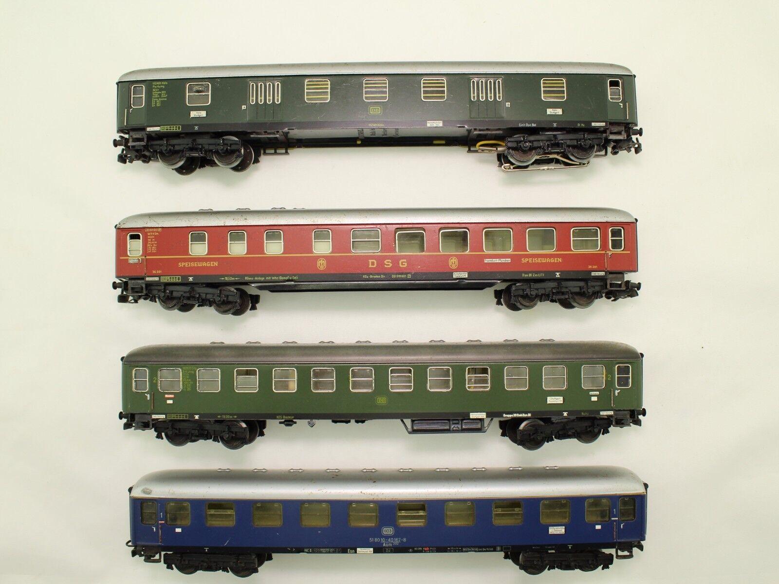 H0 4 x Märklin diferentes a los turismos de la DB 1. 2. KL. bien