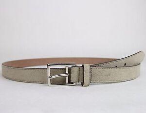 923b4ce1b9b New Gucci Men  039 s Beige Suede Leather Belt Silver Buckle 368193 1523