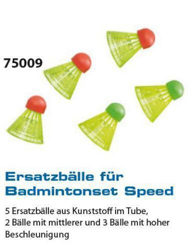 5 x Badminton balles pour crossminton 75009 Hudora Speed Plage Parc Jardin école