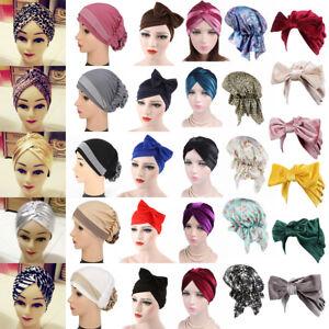 Hot-Donna-Elasticizzato-Bandana-Hijab-Turbante-Fascia-Cappello-Moda-Headwrap