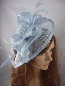 Pale blue teardrop sinamay fascinator with feathers occasion image is loading pale blue teardrop sinamay fascinator with feathers occasion solutioingenieria Images