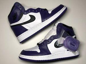 Details about Nike Air Jordan 1 Retro High OG Court Purple Size 5Y GS