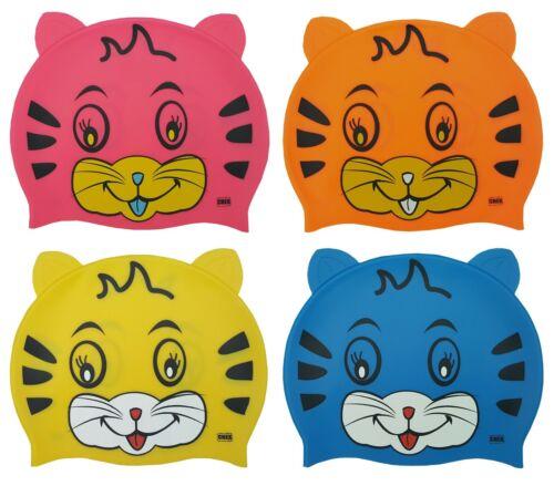 CHEX Grade A Silicone Kitten Cat Ears Childrens Swimming Swim Cap Smiley 2020