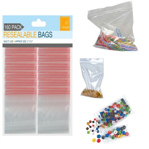 "Ziplock Zip Zipped Lock Reclosable Plastic Poly Clear Transparent Bags 3/""x3/"""