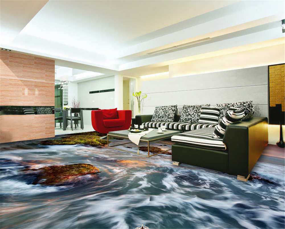 Dream Dream Dream Sunset Glow 3D Floor Mural Photo Flooring Wallpaper Home Print Decoration 220578