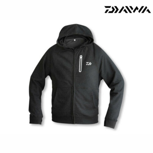 Daiwa D-Vec Hoodie avec fermeture éclair Noir Taille au choix vêtements Hoody