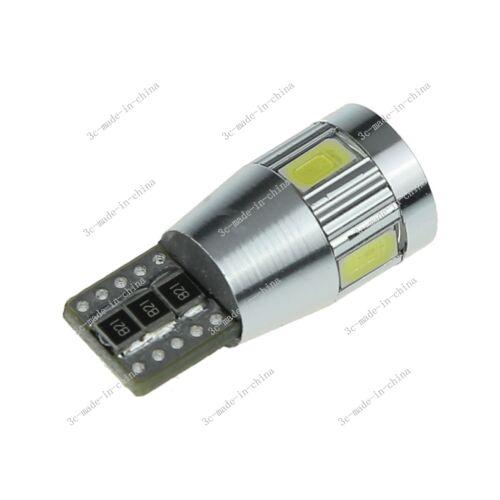 100X White 6LED 5630 T10 W5W Lens Canbus Error Free Light Car Bulb Lamp 12V A121