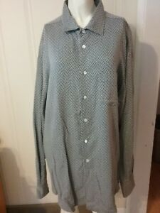 Men-039-s-Armani-Collezioni-Button-Down-Shirt-Size-Large-Italy-Gray-Blue-Checkered
