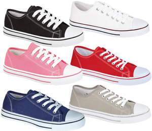 Sizes 6 to 12 Girls /& Boys Canvas Trainers// Pumps//Plimsoll //Urban Jacks Canvas
