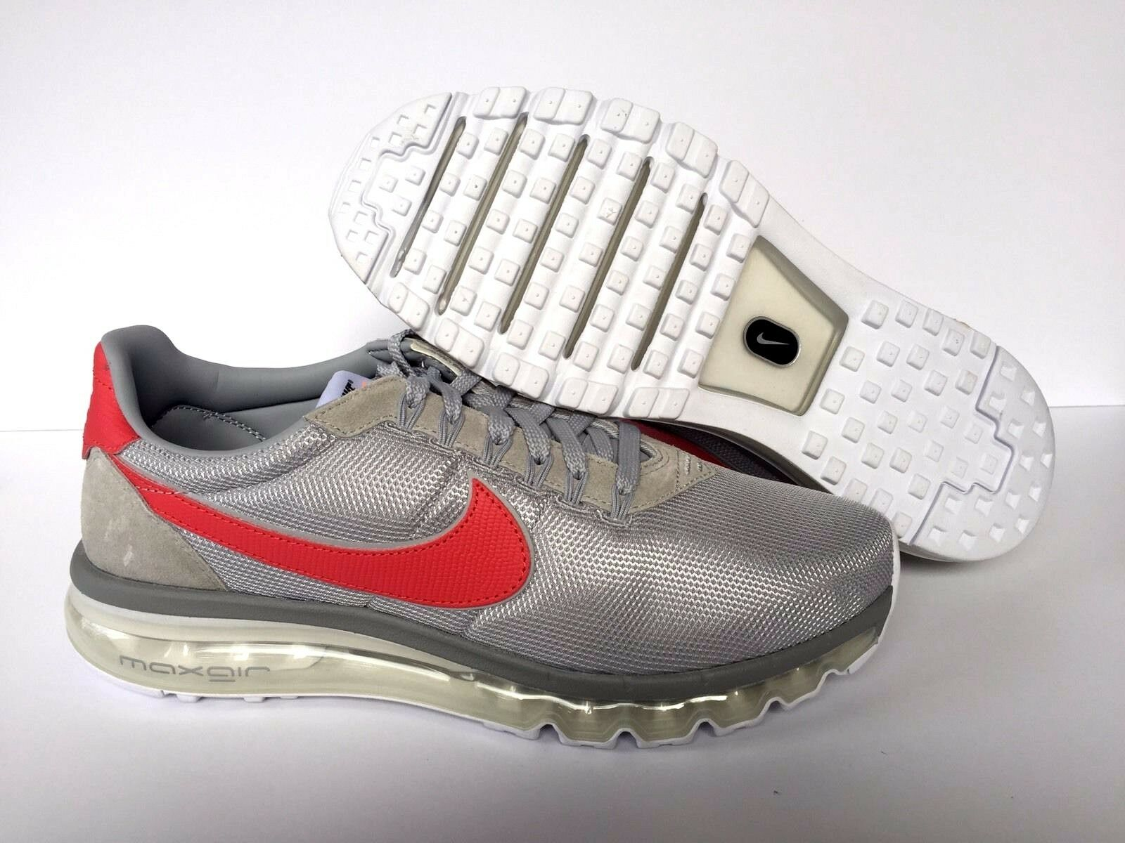 NIKEiD AIR MAX AA3175-992 RED LEATHER/GREY MESH NEW [ AA3175-992 MAX ]   Uomo SZ 11.5 1cad0c