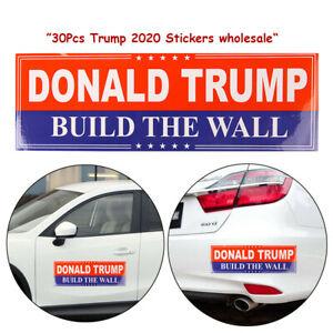 30-Pcs-Lot-Donald-Trump-2020-Build-The-Wall-US-President-Bumper-Car-Stickers-aa