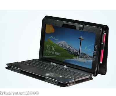 Leather Keyboard Portfolio Stand Case Cover for ASUS VivoTab RT TF600 TF600T Tab