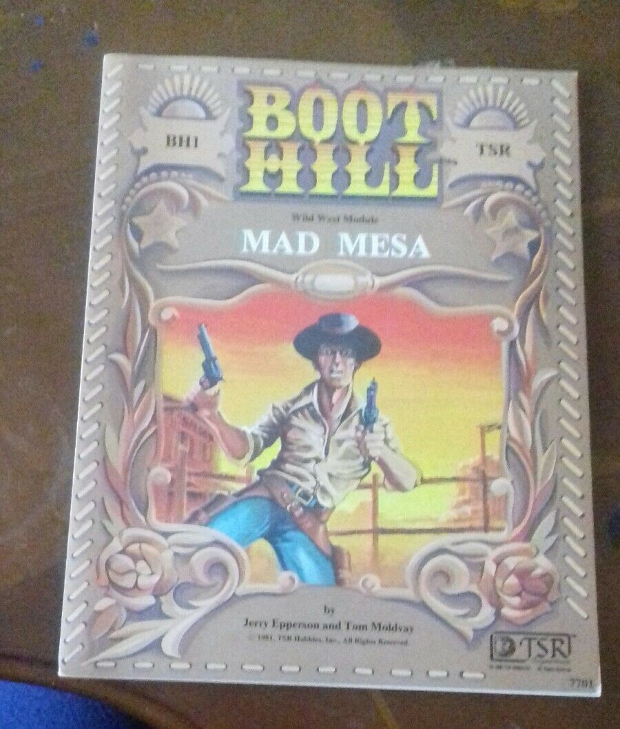 BH1 Boot Hill mad mesa module wild west cowboy roleplaying RPG tsr module