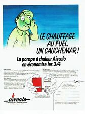 PUBLICITE ADVERTISING 0217  1981  la pompe à chaleur Aircalo