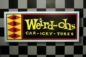 Vintage Style HAWK WEIRD-OHS • CAR-ICKY-TURES • Model Kits • Sticker • Decal