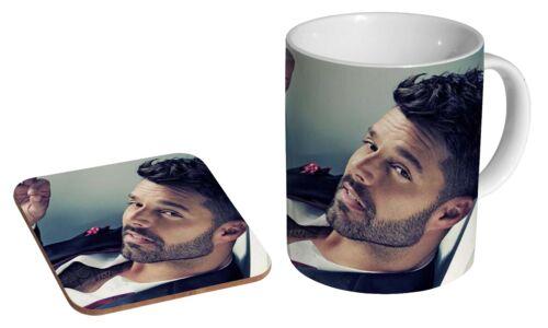 Ricky Martin Cerˆmica Tea Taza De Caf/_ Posavasos Set De Regalo