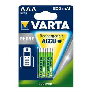 2x-VARTA-Phone-Akku-58398-Micro-AAA-HR03-800mAh-Telefon-Accu-NiMH