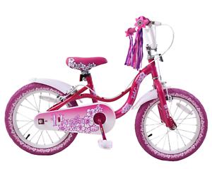 Spike Hawaiian Flower Dolly Goes 2 16  Wheel Girls Kids Purple Pink Bike Tassels