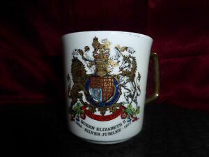 1977 QUEEN ELIZABETH II Silver Jubilee MUG - ROYAL WARE MEMORABILIA COLLECTABLE