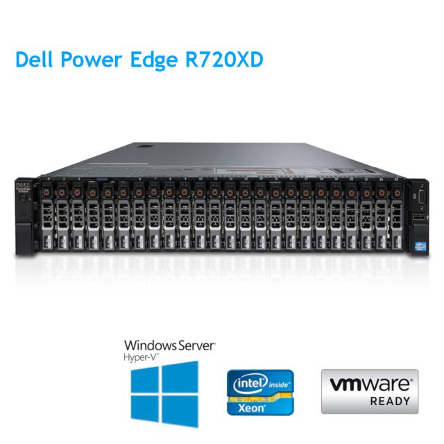 Dell PowerEdge R720XD 2 X E5-2640 6 Core 2.5Ghz 32GB RAM Unidad de disco duro H710p 24 X 600GB