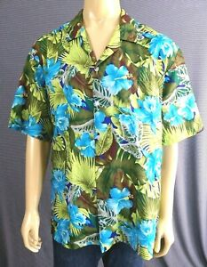 Winnie-Fashions-Vintage-Hawaiian-Shirt-Made-in-Hawaii-Polyester-Mens-2XL-Floral