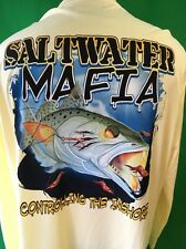 Denali Performance Apparel Men's Xl L/S Saltwater Mafia Graphic Fish Print Shirt