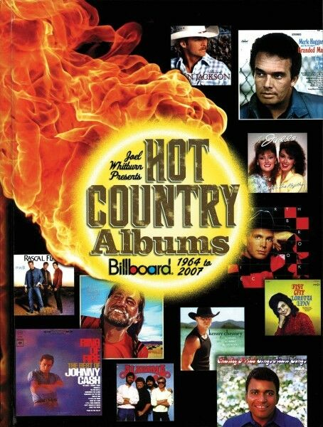 Joel Whitburn presenta Hot país álbumes Billboard 1964 a a a 2007 Libro 000332384  buena reputación