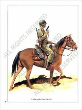 PLANCHE UNIFORM PRINT WWII USA infantry US ARMY Rider Cavalry Sammy Soldier 1942