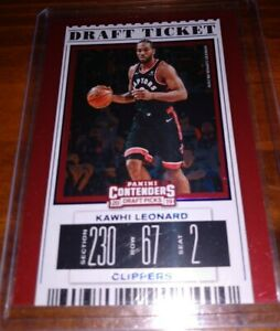 2019-20 Panini Contenders Draft Picks KAWHI LEONARD Holo Red w/ Blue Border