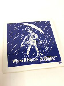 Vintage Morton Salt Girl Ceramic Tiles Trivet/Coaster