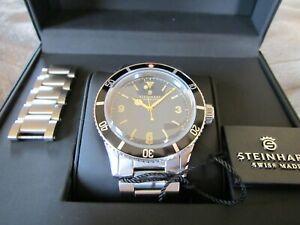 STEINHART Ocean One Vintage Men's Diver Automatic Wrist Watch
