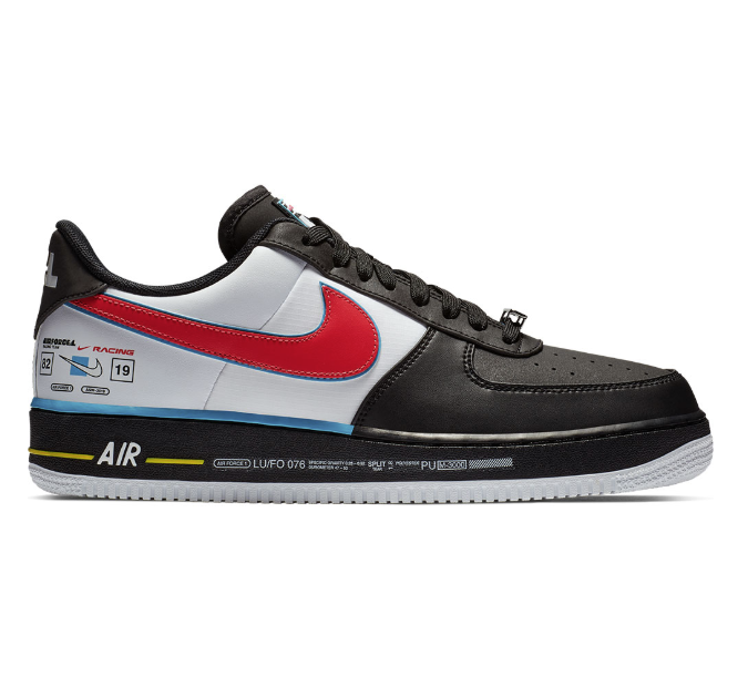 Nike Men's AIR FORCE 1 '07 AS QS Low leather Black White  AH8462-004 Size 5-12